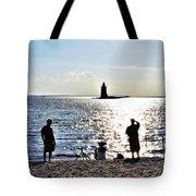 Breakwater East End Beach Scene Tote Bag