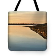 Bridge And Ria At Sunset In Quinta Do Lago Tote Bag