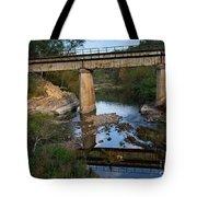 Bridge At Council Hill Station Tote Bag