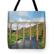 bridge over river Tweed near Melrose towards Gattonside Tote Bag