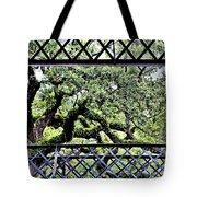 Bridge Through Live Oaks Tote Bag