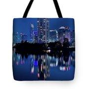 Bright Blue Hour In Austin Tote Bag