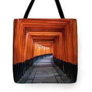 Bright Orange Torii Gates In Kyoto, Japan Tote Bag