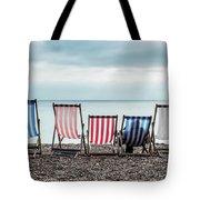Brighton Beach Chairs Tote Bag