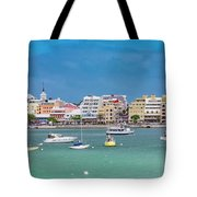 Brilliant Bermuda  Cityscape Tote Bag
