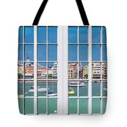 Brilliant Bermuda Cityscape Windows Tote Bag