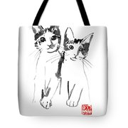 Brothers Cats Tote Bag