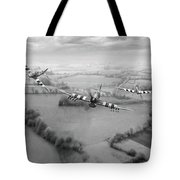 Brothers In Arms Bw Version Tote Bag