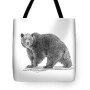 Brown Black And White Tote Bag by Larry Linton