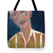 Brown Hat Man Tote Bag
