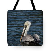 Brown Pelican Tote Bag by Jemmy Archer