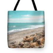Bruce Bay New Zealand Painterly Tote Bag