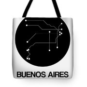 Buenos Aires Black Subway Map Tote Bag