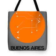 Buenos Aires Orange Subway Map Tote Bag