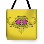 Buffalo In Pink Glasses Tote Bag