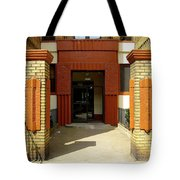 Building Entrance In Brooklyn, New York Tote Bag