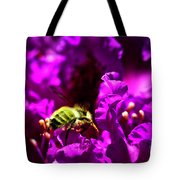 Bumble Bee On A Rhodedendron  Tote Bag