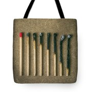Burnt Matches Tote Bag