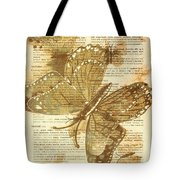 Butterfly Antiquities Tote Bag