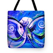 Butterfly Blue Violet Tote Bag