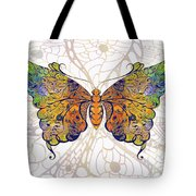 Butterfly Zen Meditation Abstract Digital Mixed Media Artwork By Omaste Witkowski Tote Bag by Omaste Witkowski