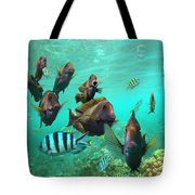 Butterflyfish And Sergeant Major Tote Bag