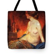 By The Fireside 1910 Tote Bag