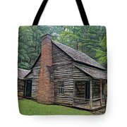 Cabin In The Woods - Fractals Tote Bag