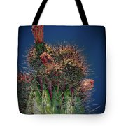 Cactus With Pink Flower Tote Bag