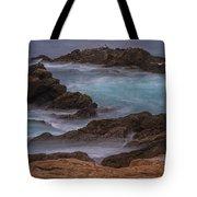 California Coastal Water Motion Tote Bag