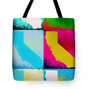 California Pop Art Panels Tote Bag