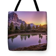 Calm Morning On Lago Di Limides Tote Bag by Dmytro Korol