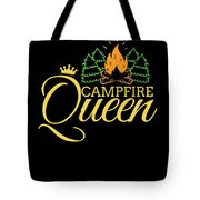 Campfire Queen Camping Caravan Camper Camp Tent Tote Bag