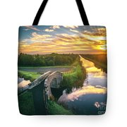 Canal Sunrise Tote Bag