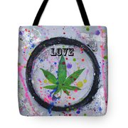 Cannabis With Love Tote Bag