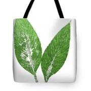 Cannas Leaves Tote Bag