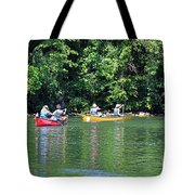 Canoeing On The Rideau Canal In Newboro Channel Ontario Canada Tote Bag