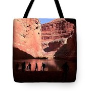 Canyon Silhouettes Tote Bag