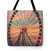 Capital Wheel Shining At Sunset  Tote Bag