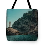 Capri Lighthouse Tote Bag