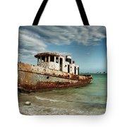 Caribbean Shipwreck 21002 Tote Bag by Rick Veldman