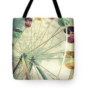 Carolina Beach Ferris Wheel Tote Bag