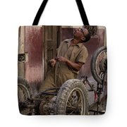 Cart In Alley Tote Bag
