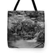 Cascades In A Peaceful Creek Scenery Tote Bag