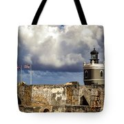 Castillo San Felipe Del Morro Lighthouse San Juan, Puerto Rico  Tote Bag