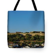 Castle Of Castro Marim From The Hill Tote Bag