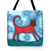 Cat By Starlight Tote Bag