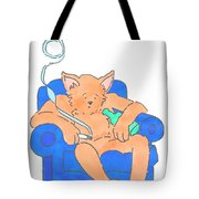 Cat Has Just Lost One Life Has Eight Lives Left Cartoon Tote Bag
