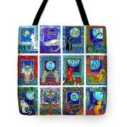Cat Zodiac Paintings  Tote Bag
