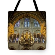 Cathedral Notre Dame Chandelier Tote Bag by Brian Jannsen